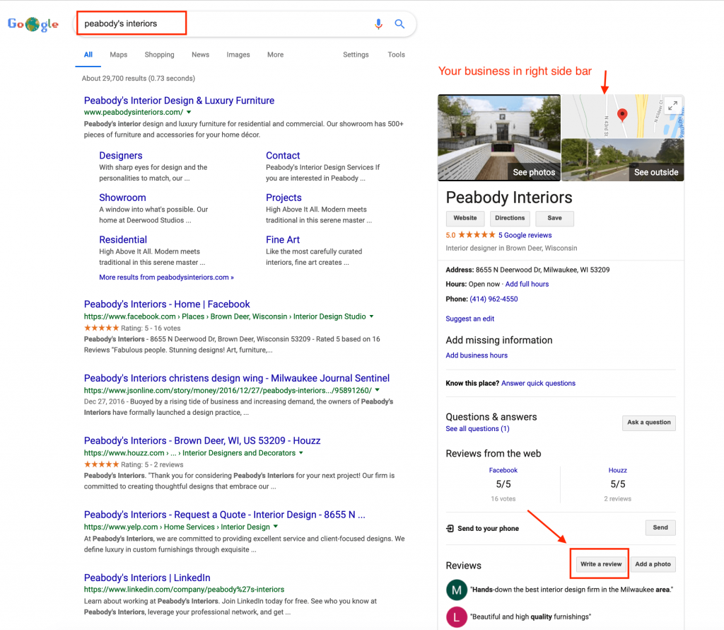 How to create a link to Google Reviews for your clients
