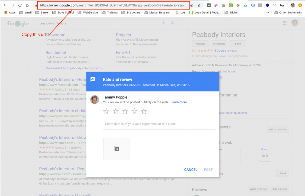 How to create a link to Google Reviews for your clients.